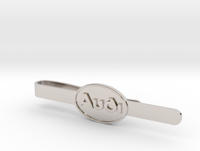 Luxury Audi Tie Clip - Classic in Rhodium Plated Brass