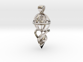The Witch's Eye in Rhodium Plated Brass