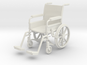 Wheelchair 01. 1:12 Scale in White Strong & Flexible
