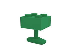 Cufflink in Green Processed Versatile Plastic