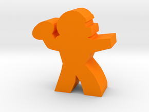 Game Piece, Football Quarterback in Orange Processed Versatile Plastic