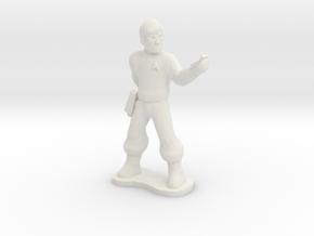 Starfleet Officer in White Natural Versatile Plastic
