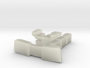 BQ23-7 Window Set Sprue in Transparent Acrylic