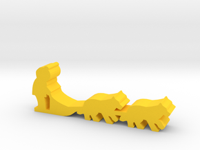 Game Piece, Dog Sled in Yellow Processed Versatile Plastic