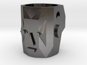 Kachina Face v01 in Polished Nickel Steel