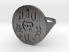 Signet Dread v01 M in Polished Nickel Steel