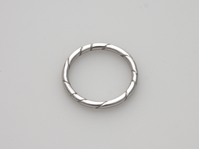 Ribbon in Rhodium Plated Brass: 5.5 / 50.25