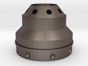 Dalek Gun-stick (base of barrel, #dg002) in Polished Bronzed Silver Steel