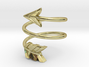 Spiral Arrow Ring - 17.35mm - US Size 7 in 18k Gold