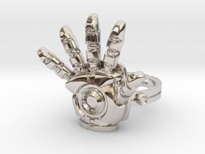 Iron Man Ring - 18.19mm - US Size 8 in Platinum