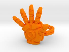 Iron Man Ring - 18.19mm - US Size 8 in Orange Processed Versatile Plastic