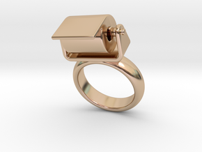 Toilet Paper Ring 21 - Italian Size 21 in 14k Rose Gold Plated Brass