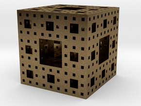 Level 3 Menger Sponge in Natural Bronze