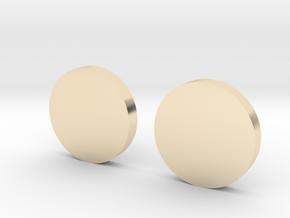 White Lantern Cuff Links in 14K Yellow Gold