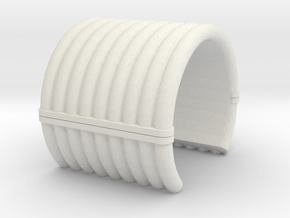 "Collar Ring v1 - 3/4"" Dia. in White Natural Versatile Plastic"