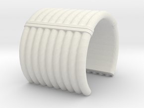 "Collar Ring v2 - 3/4"" Dia. in White Natural Versatile Plastic"