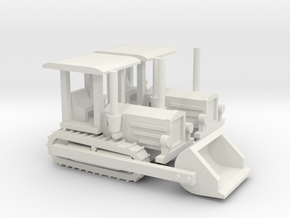 1/144 Famo Ruebezahl tractor set of 2 in White Strong & Flexible