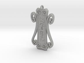 Runic Amulet 01 - 60mm in Aluminum