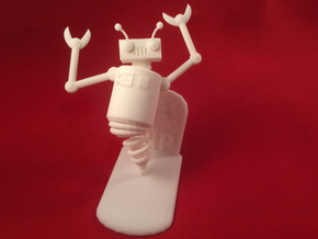 Ghost Robot in White Natural Versatile Plastic