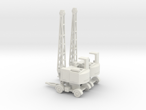 1/144 Coles EMA Mobile crane in White Strong & Flexible
