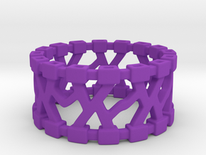 Trekma Ring in Purple Processed Versatile Plastic