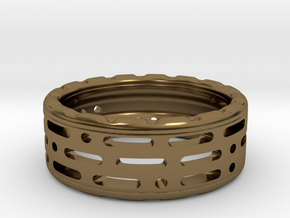 PitLand Ring in Polished Bronze
