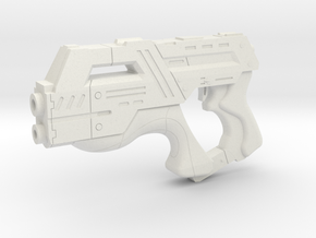 Mass Effect 1:3 M-6 Carnifex Heavy Pistol in White Strong & Flexible