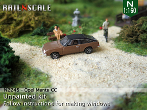 Opel Manta CC (N 1:160) in Smooth Fine Detail Plastic