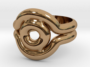 Shadow Ring - Style 2 in Polished Brass