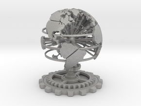 Steampunk World Small 6x6x7 in Aluminum
