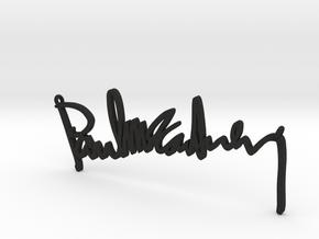 Paul Mccartney Signature Pendant in Black Acrylic