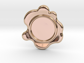 Wax Seal - Customizable Paper Weight! in 14k Rose Gold Plated Brass