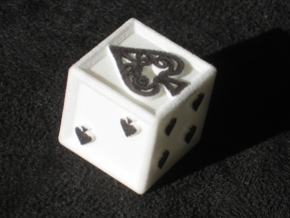 Ace Die Spade in White Natural Versatile Plastic