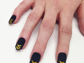 Chevron Nails (Size 3) in Black Natural Versatile Plastic