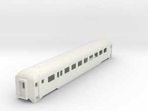H0 Scale DRGW streamstyle coach in White Natural Versatile Plastic