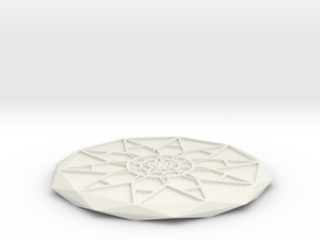 Star Power Coaster in White Natural Versatile Plastic