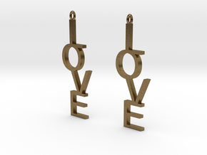 Love Earrings Large  in Natural Bronze