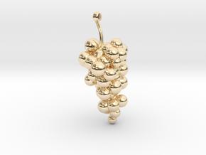Grape Earring 2 in 14k Gold Plated Brass