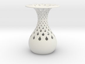 Vase in White Natural Versatile Plastic