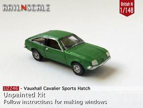 Vauxhall Cavalier Sports Hatch (British N 1:148) in Smooth Fine Detail Plastic