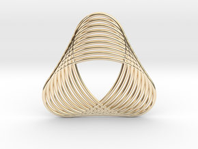 0539 Motion Of Points Around Circle (5cm) #016 in 14k Gold Plated Brass
