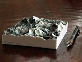 Mt. Everest region, China/Nepal, 1:250000 in Glossy Full Color Sandstone