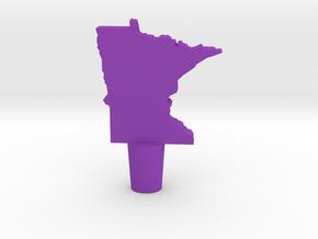 Wine Stopper of Minnesota in Purple Processed Versatile Plastic