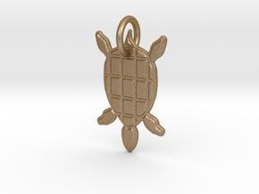 Turtle Pendant in Matte Gold Steel