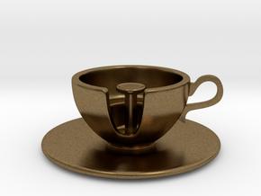 Cuppa Kooky Pendant in Natural Bronze