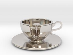 Cuppa Kooky Pendant in Platinum