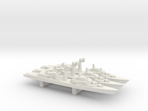 Tourville-class frigate x 3, 1/3000 in White Natural Versatile Plastic