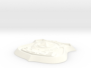 Zootopia Cosplay Police Badge in White Strong & Flexible Polished