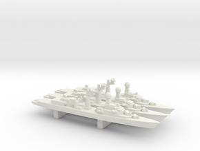 Tourville-class FFG (Early Proposal) x 3, 1/3000 in White Natural Versatile Plastic