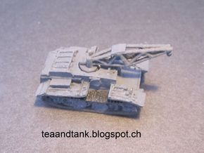 1/144 crane for Panzer I special version in White Strong & Flexible